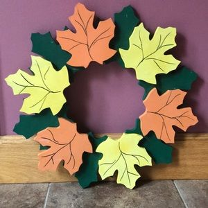 Hand Crafted Fall Autumn Halloween Wreath